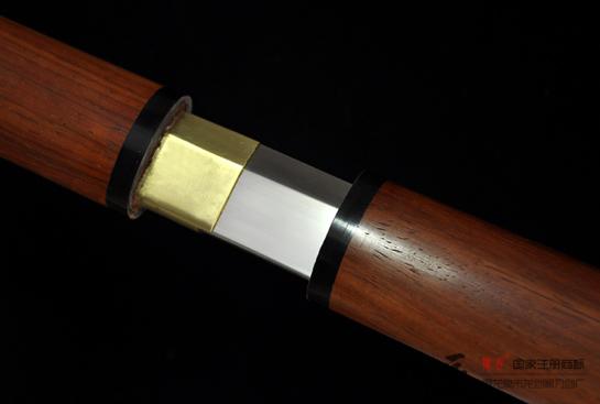 红木素装唐刀-T10钢烧刃