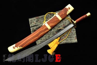 精制柳叶刀|-百炼花纹钢