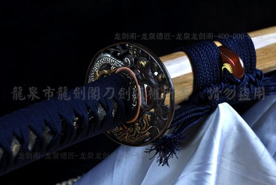 柳生宗严武士刀-夹钢(三枚合)