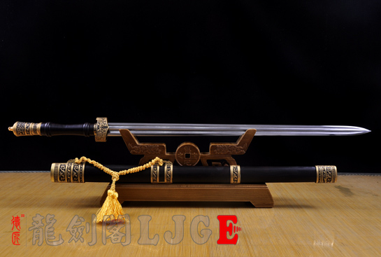 铜装卧龙剑-百炼花纹钢