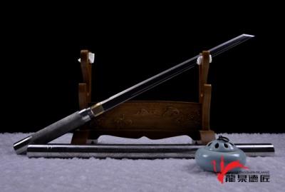 龙纹钢管棍刀-百炼钢烧刃