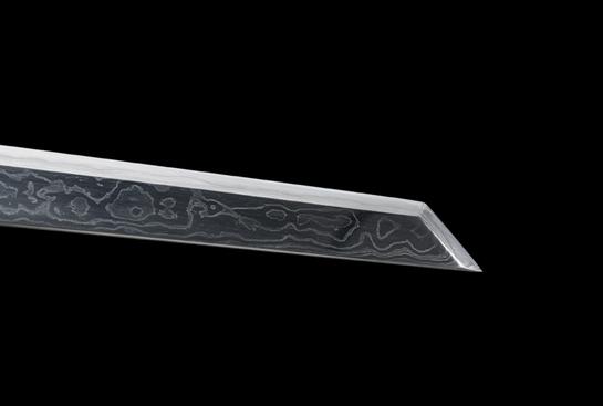 天铁系列之胜影唐刀-珍藏版-陨铁-毛铁-纯银手工雕刻(夹钢复合)