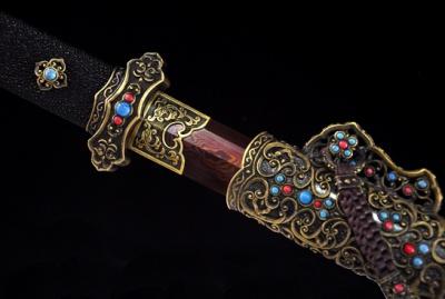 豪华血刃唐剑-百炼花纹钢