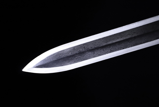 新作-铁雕错银牡丹剑-自炼钢(千目纹)