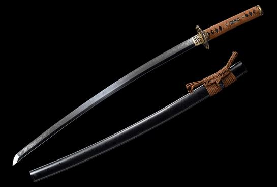火焰纹蝮斩武士刀-T10钢