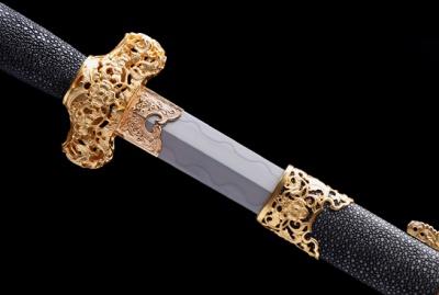 出云剑-尊享版-扭转百炼钢-黄铜精雕镀金