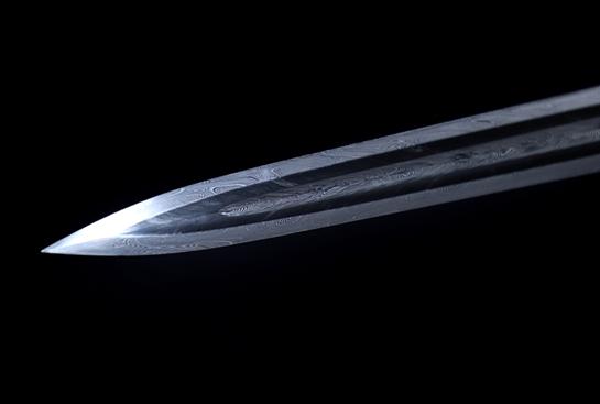 紫铜素汉剑-素风-羽毛钢