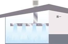 厂房内的空气含湿量增加