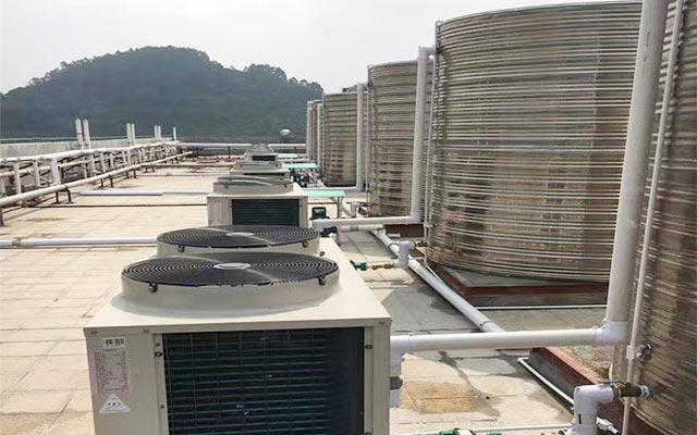 学校热水用土禾空气能热泵,节能还安全