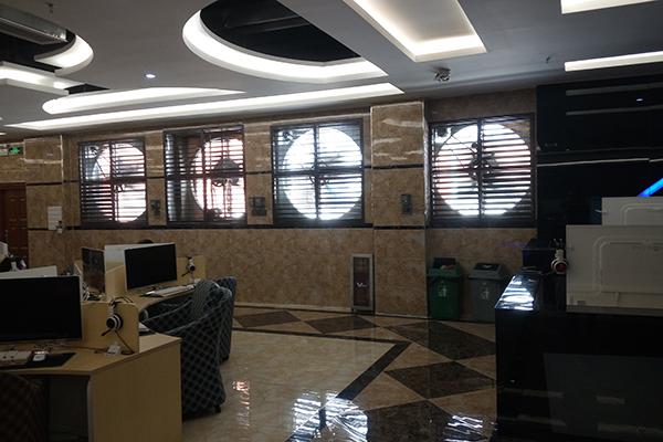 广州网鱼网咖通风降温安装土禾风机水帘工程案例