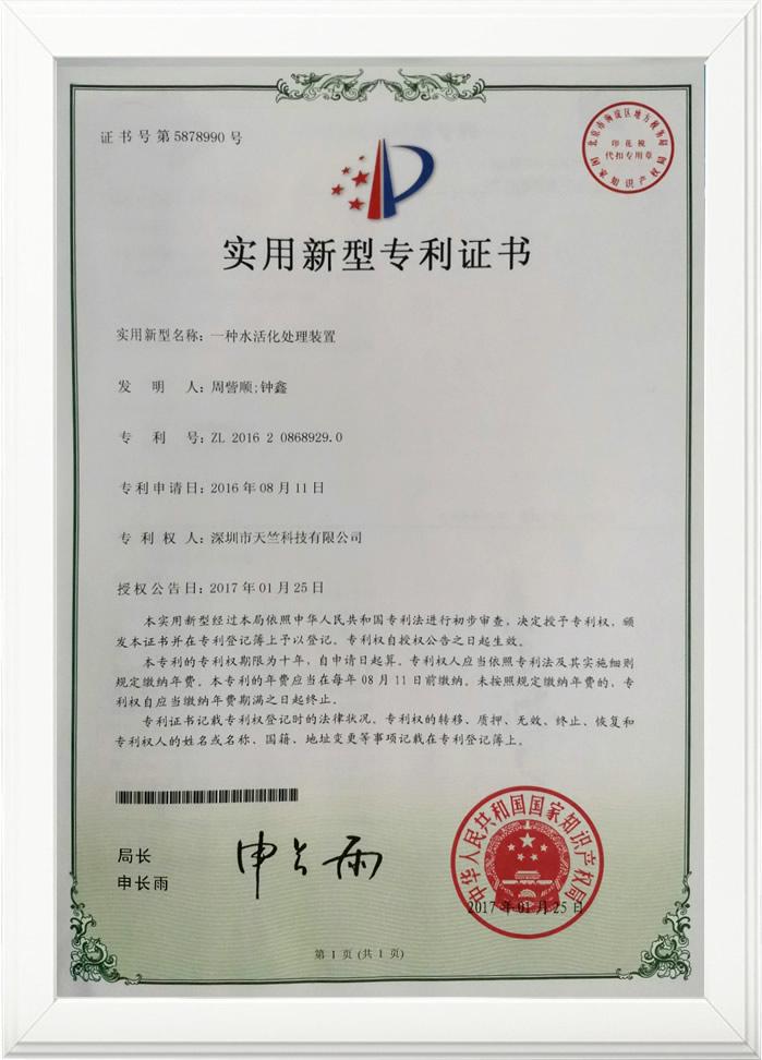 一种水活化处理装置专利