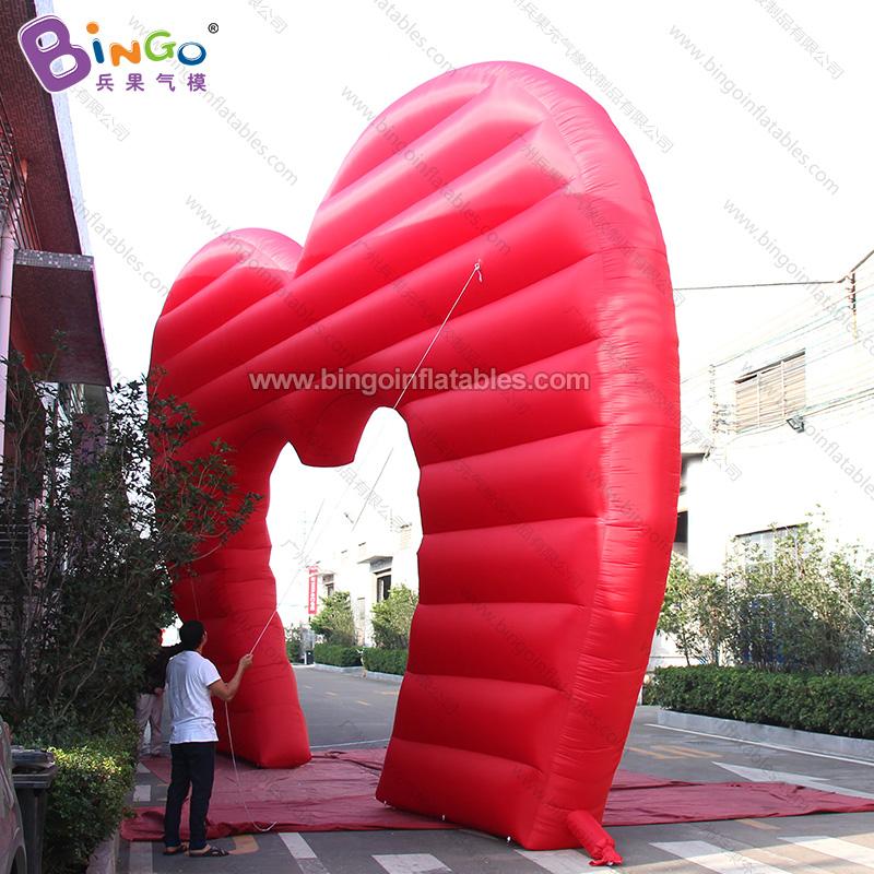 BG-F0109 充气红色心形拱门气模