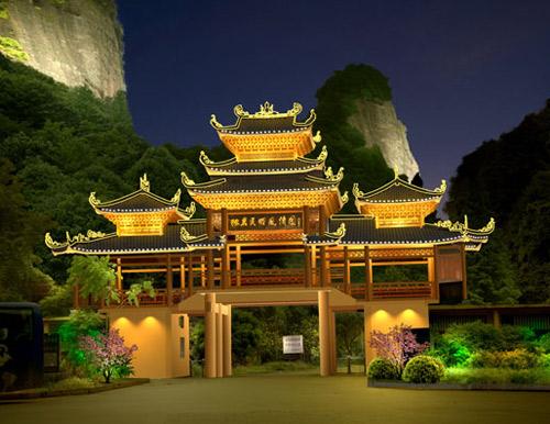 石岩民俗风情园灯光规划设计