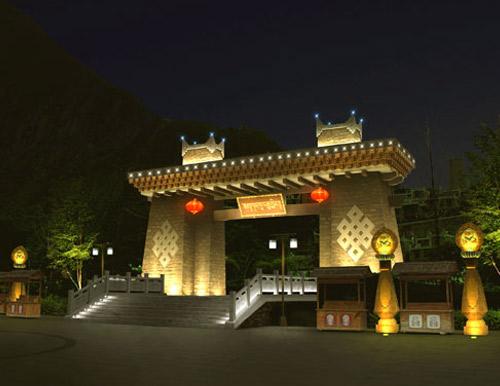 甘堡藏寨灯光设计