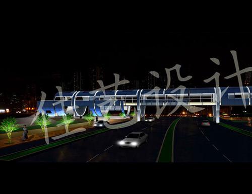 深圳南山后海人行天桥灯光规划设计