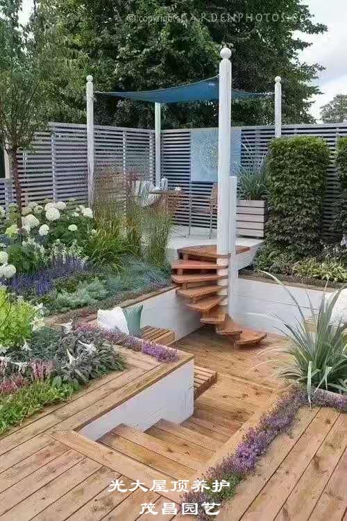 屋顶花园养护施工
